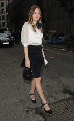 Rosie Fortescue attends LFW s/s 2016: PPQ catwalk show at The Vinyl Factory during London Fashion Week. London, UK. 18/09/2015<br />BYLINE MUST READ : GOTCHAIMAGES.COM<br /><br />Copyright by © Gotcha Images Ltd. All rights reserved.<br />Usage of this image is conditional upon the acceptance <br />of Gotcha Images Ltd, terms and conditions available at<br />www.gotchaimages.com