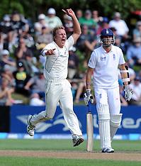 Dunedin-Cricket, New Zealand v England, 1st test, day 5, March 10