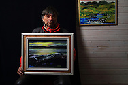 Nils Peder A. Gaup, reindeer herdsman, landscape painter and gifted singer of traditional yoiks.