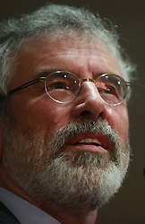 Sinn Fein's President Gerry Adams speaks during a European Election Rally in South Belfast, Northern Ireland, Monday May 5, 2014. The Sinn Fein president was questioned for four days in connection with the murder of Jean McConville and membership of the IRA,  Monday, 5th May 2014. Picture by  i-Images
