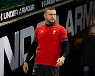 Hadleigh Parkes of Wales<br /> <br /> Photographer Simon King/Replay Images<br /> <br /> Six Nations Round 1 - Wales v Italy -  Captains Run - Friday 31st January 2020 - Principality Stadium - Cardiff<br /> <br /> World Copyright © Replay Images . All rights reserved. info@replayimages.co.uk - http://replayimages.co.uk