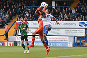 Bury Midfielder, Zeli Ismail (7) and Scunthorpe United Goalkeeper, Luke Daniels (1) during the EFL Sky Bet League 1 match between Bury and Scunthorpe United at the JD Stadium, Bury, England on 1 October 2016. Photo by Mark Pollitt.