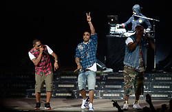 October 6, 2017 - Auburn, Washington, U.S - NELLY performs in concert at the Whiteriver Amphitheater in Auburn, WA. (Credit Image: © Jeff Halstead via ZUMA Wire)