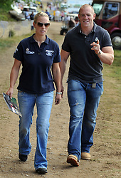 FILE PHOTO - Zara Phillips and Mike Tindall are expecting a baby in the New Year, Buckingham Palace announced today.<br /> Queen Elizabeth II's granddaughter Zara married England rugby star Tindall in July 2011 at Edinburgh's Canongate Kirk and a reception at the Queen's Scottish residence, the Palace of Holyrood<br /> <br /> Zara And Mike Tindall at the Festival of British Eventing at Gatcombe Park, Friday August 5, 2011. Photo by : Andrew Parsons / i-Images