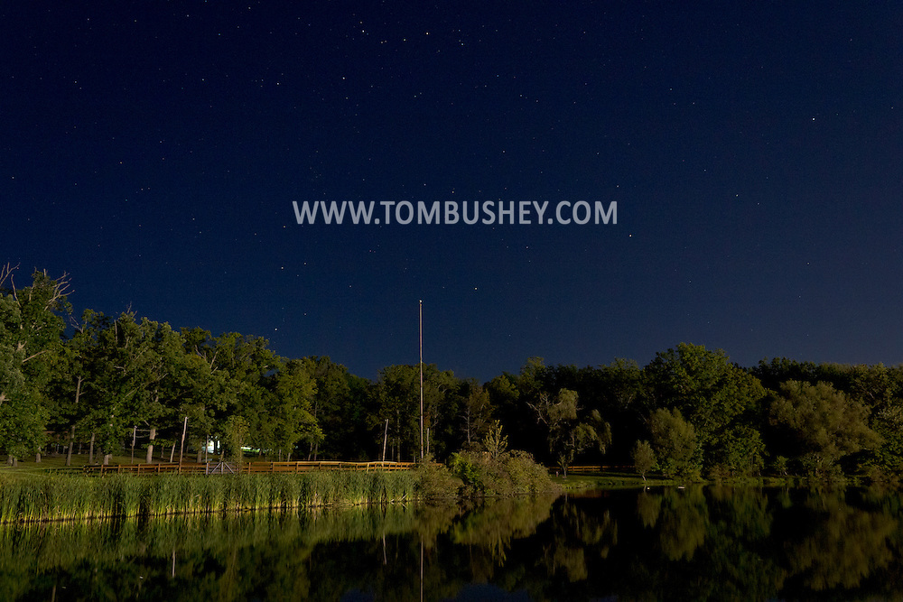Middletown, New York - The lake at Fancher-Davidge Park on the night of on  Aug. 29, 2012.