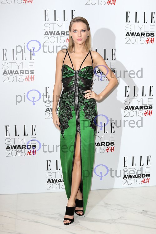 Taylor Swift, ELLE Style Awards, Sky Garden, London UK, 24 February 2015, Photo by Richard Goldschmidt
