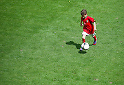Kuba Zewlakow (son of Michal) play soccer before final match between SO Serbia (red) and SO Romania (white) during the 2013 Special Olympics European Unified Football Tournament in Warsaw, Poland.<br /> <br /> Poland, Warsaw, June 08, 2012<br /> <br /> Picture also available in RAW (NEF) or TIFF format on special request.<br /> <br /> For editorial use only. Any commercial or promotional use requires permission.<br /> <br /> <br /> Mandatory credit:<br /> Photo by &copy; Adam Nurkiewicz / Mediasport
