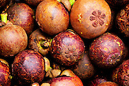 Indonesia, Bali. One of typical and the most delicious balinese fruits - mangosteen.
