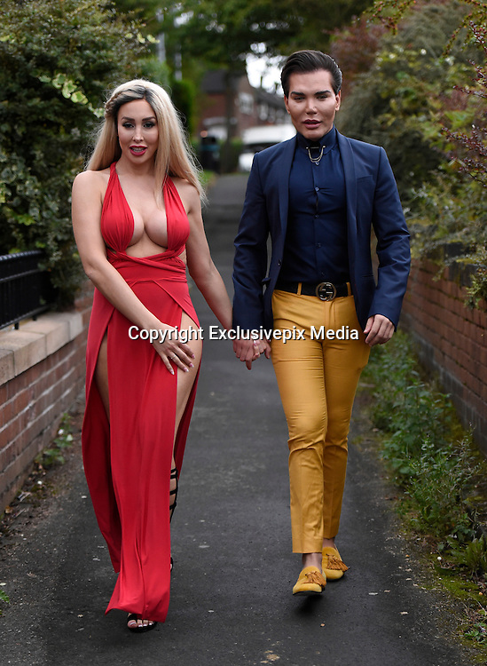 EXCLUSIVE<br /> Ex on the beach star Laura Summers pictured on her way out with Human doll Rodrigo Alves , Laura revealing her new breast surgery and eye lid surgery as she is die to hit our TV screens once again with another new look, Laura pictured on her way out   for her birthday celebrations, looking more like fancy dress!!<br /> &copy;Exclusivepix Media