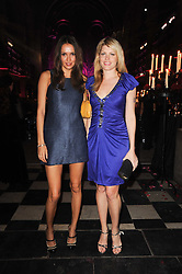 Left to right, SASHA VOLKOVA and MEREDITH OSTROM at 'Superficial Butterfly' a party hosted by Amanda Eliasch to celebrate her 50th birthday held at Number One Mayfair (St Marks Church) North Audley Street, London on 12th May 2010.