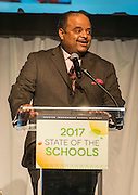 Roland Martin comments during the State of the Schools luncheon at the Hilton of the Americas, February 15, 2017.