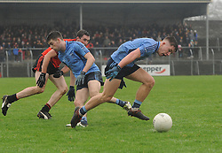Westport's Paul Lambert and Oisin McLoughlin in action during the All Ireland Club semi-final in Ennis.<br />Pic Conor McKeown