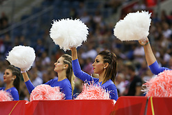 06.09.2014, Krakow Arena, Krakau, POL, FIVB WM, Puerto Rico vs Italien, Gruppe D, im Bild Cheerleaders // during the FIVB Volleyball Men's World Championships Pool D Match beween Puerto Rico and Italy at the Krakow Arena in Krakau, Poland on 2014/09/06. EXPA Pictures © 2014, PhotoCredit: EXPA/ Newspix/ Tomasz Jastrzebowski<br /> <br /> *****ATTENTION - for AUT, SLO, CRO, SRB, BIH, MAZ, TUR, SUI, SWE only*****