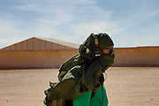 Camera Hikaru Toda, in Samara, a Sahrawi refugee camp in southwestern Algeria, during the filming of The Runner.