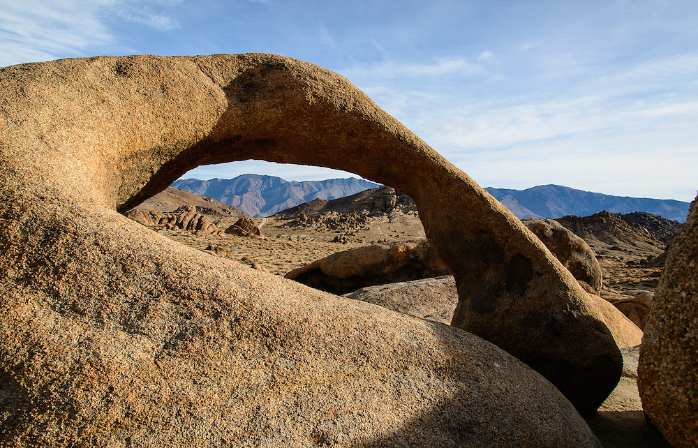 Since the 1920's, this location has served as a background to hundreds of movies. Alabama Hills, near Lone Pine California.