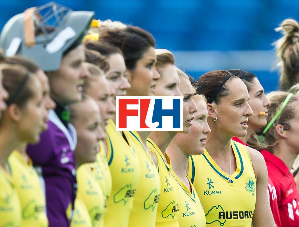25/06/2015<br /> HWL Semi Final Antwerp Belgium 2015<br /> Australia v New Zealand Women<br /> Madonna Blyth<br /> Photo: Grant Treeby