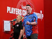 Daryl Gurney during the 2018 Players Championship Finals at Butlins Minehead, Minehead, United Kingdom on 25 November 2018.
