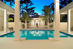 House rear exterior Deck patio Verandah Porch Pool pool house