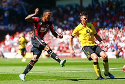Callum Wilson of AFC Bournemouth early shot is saved - Mandatory by-line: Jason Brown/JMP - Mobile 07966 386802 08/08/2015 - FOOTBALL - Bournemouth, Vitality Stadium - AFC Bournemouth v Aston Villa - Barclays Premier League - Season opener