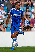 Gillingham FC forward Mikael Mandron (9) during the EFL Sky Bet League 1 match between Gillingham and Wycombe Wanderers at the MEMS Priestfield Stadium, Gillingham, England on 14 September 2019.