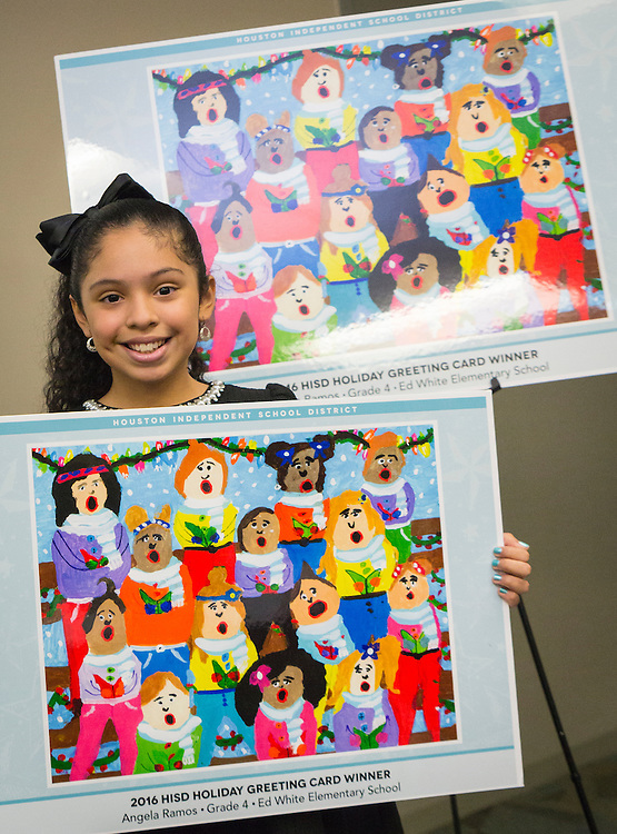 Angela Ramos, a fourth-grader at Ed White Elementary School, won in the elementary school division.