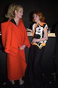 Kate de Castelbajac and Irina Volkonskii  . Pop art exhibition opening. Pompidou Centre. Paris. 13 march 2001. © Copyright Photograph by Dafydd Jones 66 Stockwell Park Rd. London SW9 0DA Tel 020 7733 0108 www.dafjones.com