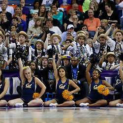 April 7, 2013; New Orleans, LA, USA; California Golden Bears band and cheerleaders react during the first half in the semifinals during the 2013 NCAA womens Final Four against the Louisville Cardinals at the New Orleans Arena. Mandatory Credit: Derick E. Hingle-USA TODAY Sports