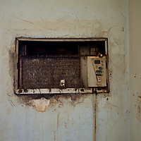TAMPA, FL -- March 22, 2011 -- A weathered air-conditioner is seen in a vacant home in North Port, Fla., 2011.  A recent study showed that one and five homes in the state of Florida is vacant.