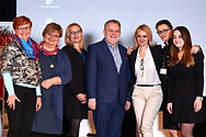 """Warsaw, Poland - 2017 April 07: (L-R) Anna Mentlewicz - television journalist and author of books and Anna Kowalewska - Department of Biomedical Development and Sexology of Warsaw University and Dorota Wandas - Project Management Director at 4 Business & People sp. z o.o. Representative of SKN Public Health Section of Health Promotion of Warsaw Medical University  and Zbigniew Izdebski - Department of Biomedical Development and Sexology of Warsaw University and Anna Wegrzyn - founder of the portal """"Changes in life"""", coach ICC and Malgorzata Gurdziel and Alicja Smolaga attend in The Day of Health - science conference in the National Library on April 07, 2017 in Warsaw, Poland.<br /> <br /> Mandatory credit:<br /> Photo by © © Adam Nurkiewicz / Mediasport / Mediasport<br /> <br /> Picture also available in RAW (NEF) or TIFF format on special request.<br /> <br /> Any editorial, commercial or promotional use requires written permission from the author of image.<br /> <br /> Adam Nurkiewicz declares that he has no rights to the image of people at the photographs of his authorship."""