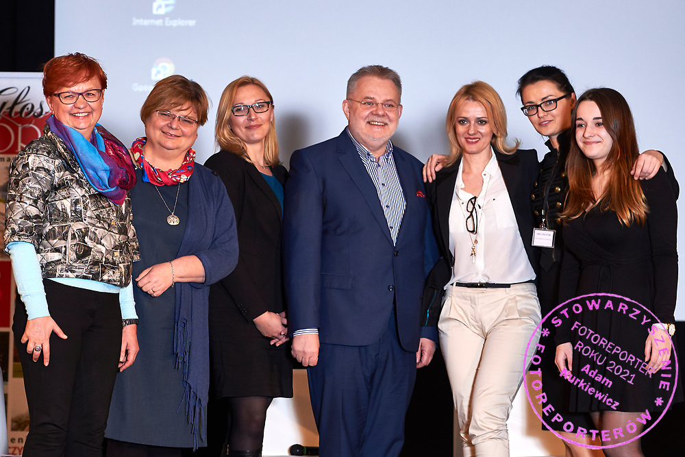 "Warsaw, Poland - 2017 April 07: (L-R) Anna Mentlewicz - television journalist and author of books and Anna Kowalewska - Department of Biomedical Development and Sexology of Warsaw University and Dorota Wandas - Project Management Director at 4 Business & People sp. z o.o. Representative of SKN Public Health Section of Health Promotion of Warsaw Medical University  and Zbigniew Izdebski - Department of Biomedical Development and Sexology of Warsaw University and Anna Wegrzyn - founder of the portal ""Changes in life"", coach ICC and Malgorzata Gurdziel and Alicja Smolaga attend in The Day of Health - science conference in the National Library on April 07, 2017 in Warsaw, Poland.<br /> <br /> Mandatory credit:<br /> Photo by © © Adam Nurkiewicz / Mediasport / Mediasport<br /> <br /> Picture also available in RAW (NEF) or TIFF format on special request.<br /> <br /> Any editorial, commercial or promotional use requires written permission from the author of image.<br /> <br /> Adam Nurkiewicz declares that he has no rights to the image of people at the photographs of his authorship."