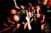 """Cradle Of Filth"" fans crowd surfing, UK 2000's"
