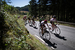 Riders digs deep on second KOM climb of the 117,5 km third stage of the 2016 Ladies' Tour of Norway women's road cycling race on August 13, 2016 between Svinesund, Sweden and Halden, Norway. (Photo by Balint Hamvas/Velofocus)