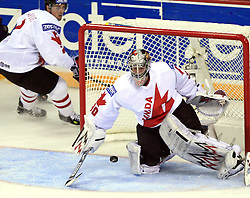 Goalkeeper Cam Ward of Canada at ice-hockey match USA vs Canada at IIHF WC 2008 in Halifax,  on May 02, 2008 in Metro Center, Halifax, Nova Scotia,Canada. USA won 4:0. (Photo by Vid Ponikvar / Sportal Images)