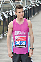 LONDON - April 17: James Toseland at the Virgin London Marathon - Celebrity Photocall (Photo by Brett D. Cove)