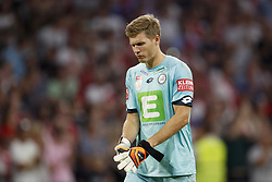 Sturm Graz goalkeeper Jorg Siebenhandl during the UEFA Champions League second round qualifying first leg match between Ajax Amsterdam and Sturm Graz at the Johan Cruijff Arena on July 25, 2018 in Amsterdam, The Netherlands