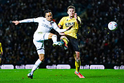 Leeds United forward Helder Costa (17) takes a shot during the EFL Sky Bet Championship match between Leeds United and Millwall at Elland Road, Leeds, England on 28 January 2020.