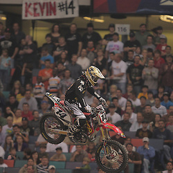 14 March 2009: Kevin Windham (14) makes a jump during the Monster Energy AMA Supercross race at the Louisiana Superdome in New Orleans, Louisiana