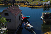 Home in the harbour of Blue Rocks, Nova Scotia.