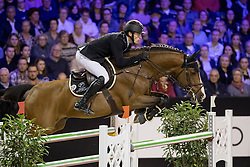 Whitaker William, GBR, Utamaro d Ecaussines<br /> Jumping Indoor Maastricht 2016<br /> © Hippo Foto - Dirk Caremans<br /> 12/11/2016