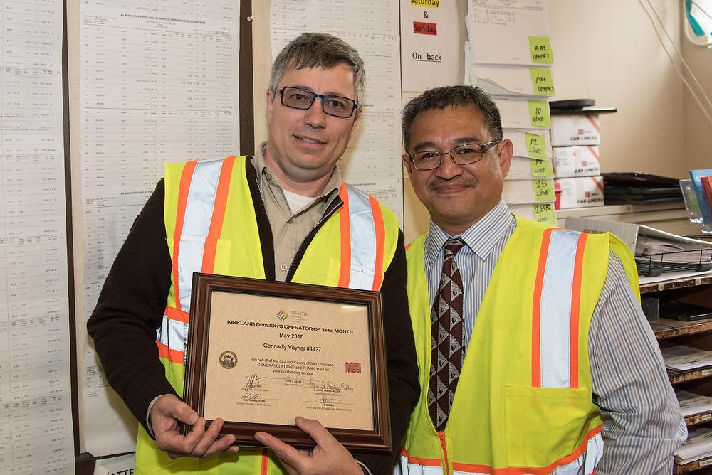 Kirkland Operator of the Month Ceremony | June 28, 2017