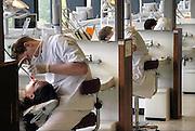 Nederland, Nijmegen, 22-5-2008Opleiding tandarts bij tandheelkunde. Studenten doen praktijk.Foto: Flip Franssen/Hollandse Hoogte