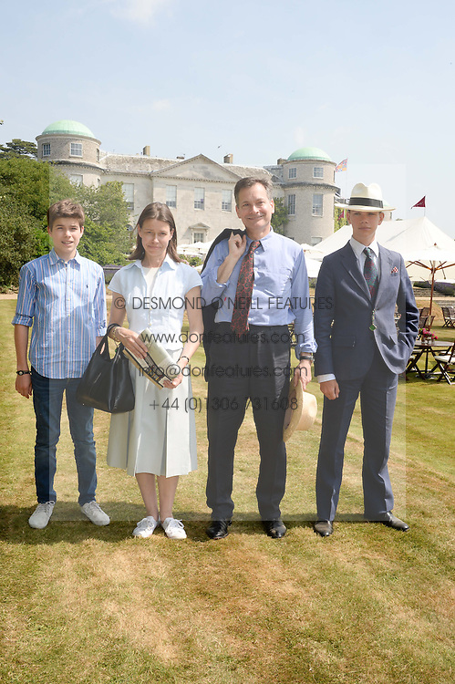MR DANIEL & LADY SARAH CHATTO and their sons Left, ARTHUR CHATO and right, SAMUEL CHATTO at the Cartier 'Style et Luxe' part of the Goodwood Festival of Speed, Goodwood House, West Sussex on 14th July 2013.