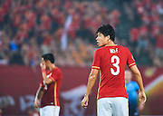 GUANGZHOU, CHINA - MAY 03:  Mei Fang of Guangzhou Evergrande looks on during the AFC Asian Champions League match between Guangzhou Evergrande FC and Sydney FC at Tianhe Stadium on May 3, 2016 in Guangzhou, China.  (Photo by Aitor Alcalde Colomer/Getty Images)