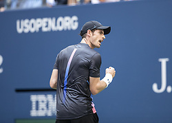 August 29, 2018 - New York, New York, United States - Andy Murray of United Kingdom reacts during US Open 2018 2nd round match against Fernando Verdasco of Spain at USTA Billie Jean King National Tennis Center (Credit Image: © Lev Radin/Pacific Press via ZUMA Wire)
