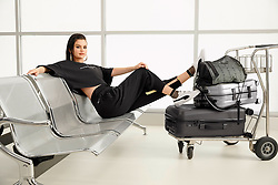 Selena Gomez is one stylish traveler in this new photoshoot showcasing her second collection with PUMA. The 26-year-old singer is seen sporting a series of sexy styles, including wet-look hair and in cropped tops that give a flash of her toned tum. The Spring/ Summer 2019 collaboration is inspired by Selena's rise from her hometown of Grand Prairie, Texas, to her fast-paced life today based in Los Angeles and features two brand-new shoe styles, laidback apparel and travel-ready accessories. According to PUMA, the collection is made for 'move makers, influenced by the global girl who doesn't just travel the world, but fearlessly leaves a mark on it'. The brand added: 'The creative direction was inspired by Selena's personal style and attitude. She was looking to create pieces that looked amazing, but comfortable enough for everyday use – mixing the energy of sports with the self-expression of street fashion.' Speaking of the collection, her second with PUMA, Selena said: 'I'm in love with this collection, because it's inspired by my life. 'I obviously wanted to create something that matches my lifestyle and that shows the real me – I've said it before, I need something that's comfortable and flattering, pieces that I can just put on and give the impression it took me hours to plan. 'My favorite thing about it is that it gives different nods to me, to my history. The graphics show the places that hold a special piece in my heart, my birthday, my tattoos, my identity.' ***THE COLLECTION*** The collection comes with a couple of brand-new styles, one of them: the SG Slip-On leaves the shoelaces behind and makes way to an easy-to-wear style, launching now in Glitz (white with a sunrise inspired gradient), and Sunrise (a full sunrise inspired gradient on the upper). Furthermore, there are also some silhouettes such as the SG Runner and the Cali. The SG Runner Ice is a relaxed blend of Selena's personal style and PUMA's classic court an