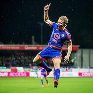 ROTTERDAM, Excelsior - Feyenoord, voetbal, Eredivisie seizoen 2015-2016, 28-11-2015, Stadion Woudenstein, Feyenoord speler Dirk Kuyt heeft de 1-0 gescoord.