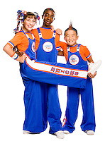 Three members of the Knicks City Kids, the New York Knicks' official youth dance team.