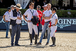 Team Belgium, Weinberg Peter, Philippaerts Olivier, Bruynseels Niels, Sato Eiken<br /> FEI Jumping Nations Cup Final<br /> Barcelona 2019<br /> © Hippo Foto - Dirk Caremans<br />  03/10/2019