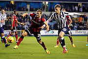Scramble for the ball in Shrewsbury box during the EFL Sky Bet League 1 match between Millwall and Shrewsbury Town at The Den, London, England on 10 December 2016. Photo by Matthew Redman.