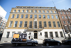© Licensed to London News Pictures. 31/07/2015. London, UK. A general view of the rear of 24 Great Cumberland Place, W1, where police were called shortly before 0100hrs this morning to an incident in which a 20 year old man fell into the chimney of the seven storey building and died. Photo credit : James Gourley/LNP